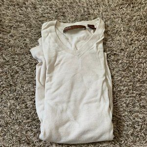Perry Ellis Medium V Neck Sweater Beige Light